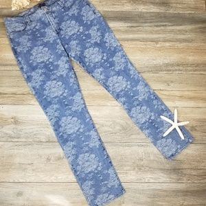 NYDJ floral tapestry print Skinny jeans Sz 16